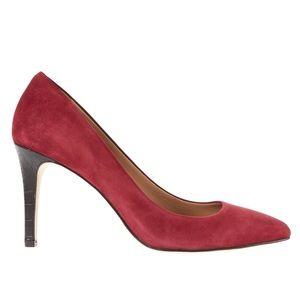 NEW Ann Taylor pumps w/ croc embossed heels